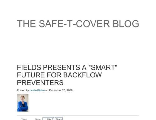 "Fields Presents A ""Smart"" Future For Backflow Preventers"