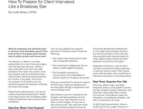 How To Prepare for Client Interviews Like a Broadway Star