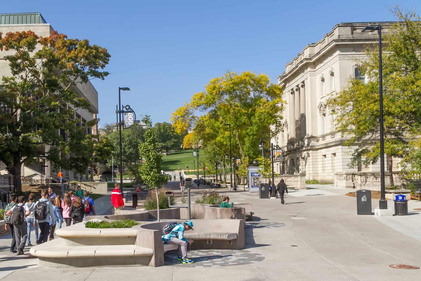 award, UW-Madison, bikers, State Street, infrastructure