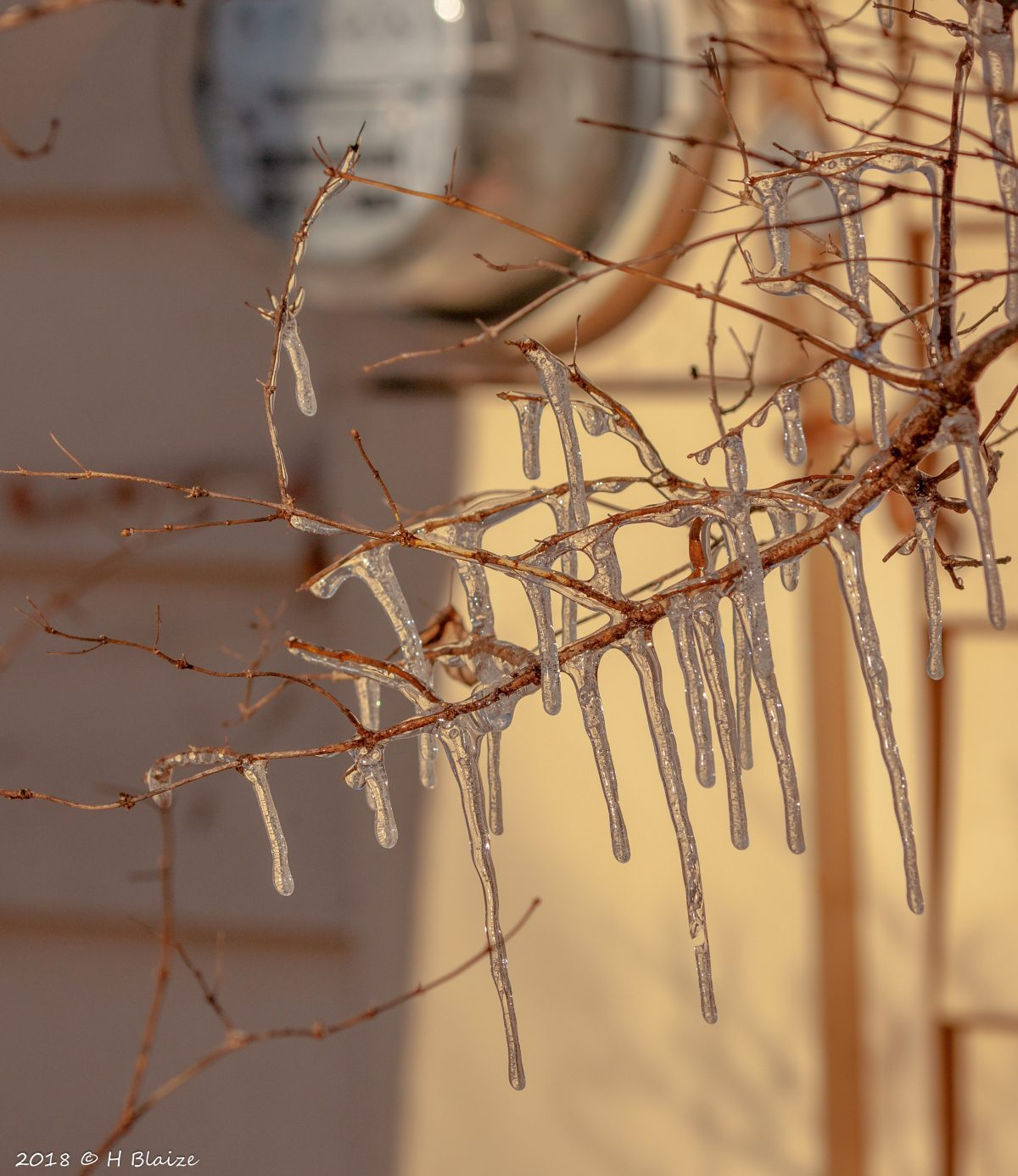 icicles - water meter-house exterior