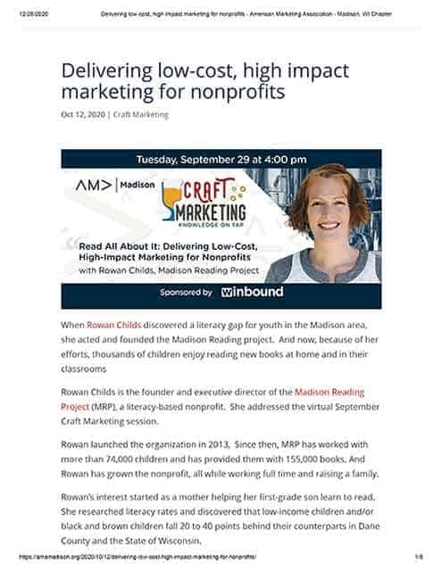 Delivering low-cost, high impact marketing for nonprofits