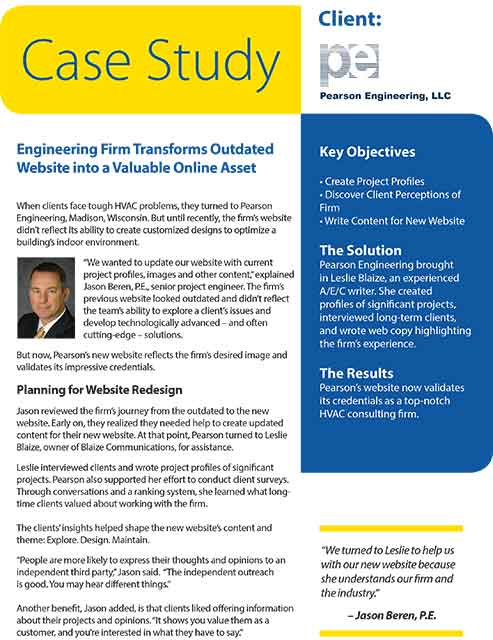 Pearson Engineering Case Study